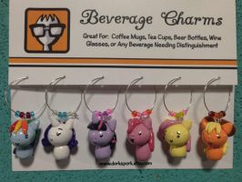 MLP FiM Mane 6 Beverage Charms by CadmiumCrab
