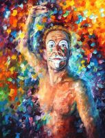 Clown by Leonid Afremov by Leonidafremov