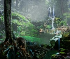 Fantasy Forest by Rhabwar-Troll-stock