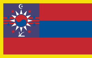 Flag of the Chinese Federation, WWIII by tylero79