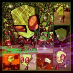 ( Invader Zim ) Irken Zim Collage by KrazyKari
