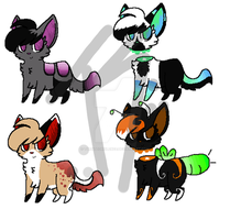 {AUCTION} .:Gradient Kitty Adopts 3:. -CLOSED- by turntechSilence