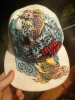 My Koi Fish Skull Iron Star Hat Colored by Chanse122