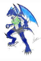 Woman Weredragon TF Colored by V8Arwing67