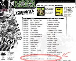 NOFX tour info by keploy