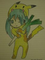 Gaahh Miku as Pikachu by PolestarRemnants13
