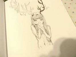 Deer Girl by Estderp