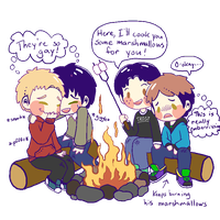 Gay Babies Camping by suicidal-zombie