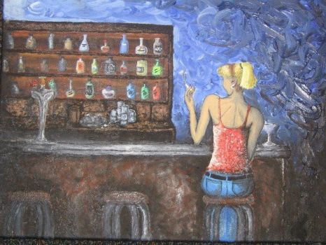 alone at the bar by SouthpawSam