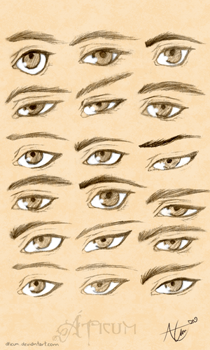 Male Eyes Study by Aticum