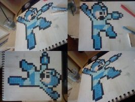 Megaman: Painted + Waxed by EpicOverload