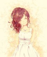 Little girl with a big smile by Vocaloidlover690
