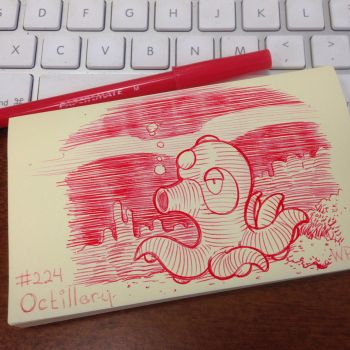 Post-It Note Pokemon #224 Octillery by WillPetrey