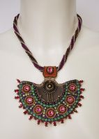 Bead embroidery necklace 15 by Priscillascreations