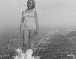 Attack Of The 1,729 Ft Marilyn Monroe by darthbriboy