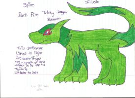 Spine Fakemon by DragonCartoons
