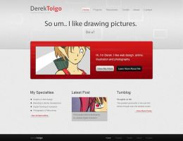 Portfolio Homepage by acidflow