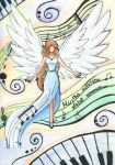 Music gives wings to our soul by Marynchan
