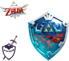 Skyward Sword - Hylian Shield Artwork Render by shad0w8