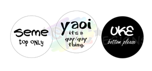 Yaoi_Buttons by wanabiEPICdesigns