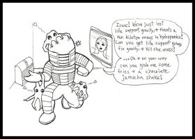 Chibi Comic - Dead Space by AngelaSasser