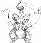 Kyurem Reshiram Forme by DeadlyObsession