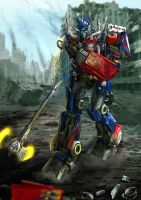 Optimus lost arm by revengerasu