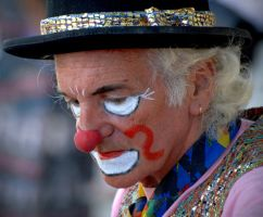 Clown sadness by Yousry-Aref