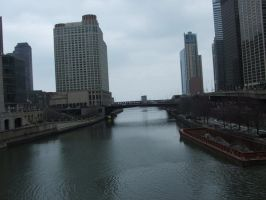 Chicago River by Magdyas