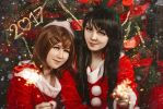 K-on! Christmas Cosplay by Rubrum-Cervi