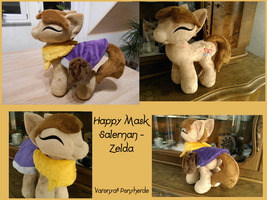 Happy Mask Saleman - Zelda - MLP Plush by Varonya