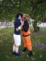 Sasuke and Naruto - kiss by MC-06