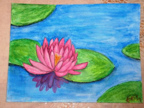 pink water lily by MacAronySalsa