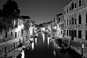 Venitian Canal at night by BusterBrownBB