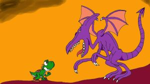 Yoshi vs Ridley by CrocoKing06