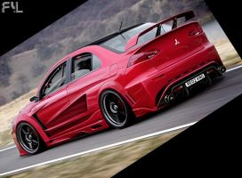 Mitsubishi Lancer Evolution X by ryl-tm