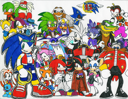 Sonic group shot by Hyliaman
