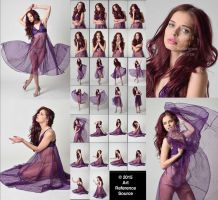 Stock:  Expressive Photos of April in Purple Dress by ArtReferenceSource