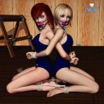 Kyra and Angel - Back to Back by Daniel-Remo-Art