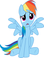 Upset Dashie is Upset by SparkPonies