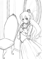 Queen Kagome (sketch) by Lady-Suchiko