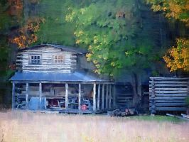 Log Cottage by tripptaylor