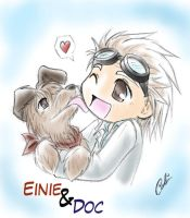 BTTF: Doc and Einie by Carro-chan