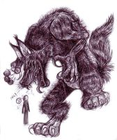 Fido the Bloodthirsty Werewolf by Buuya