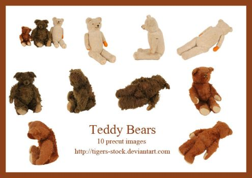 211 teddybears by Tigers-stock