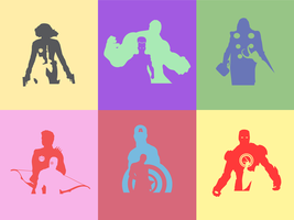 Avengers Popart by LaughterNotIncluded