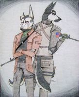 The Soldier And The Assassin by Huskypawz
