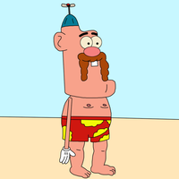 Uncle Grandpa at beach by SuperMarcosLucky96