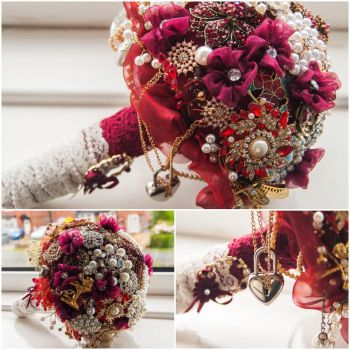 Brooch Bouquet by grapeninja