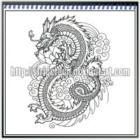 Tattoo Design 029 - Dragon by StriderDen